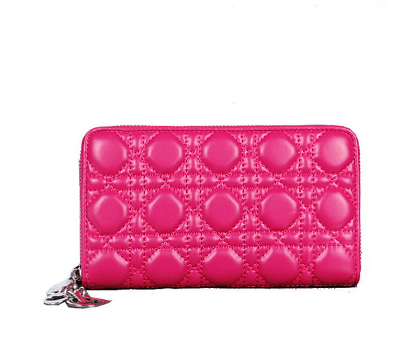 Lady Dior Escapade Wallet Sheepskin Leahter D0082 Rose
