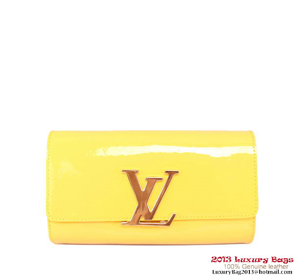 Louis Vuitton 2013 Louise Clutch Bag M94270 Lemon