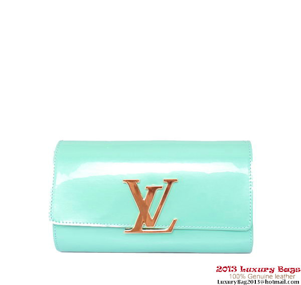 Louis Vuitton 2013 Louise Clutch Bag M94270 Light Blue