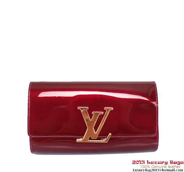 Louis Vuitton 2013 Louise Clutch Bag M94270 Wine