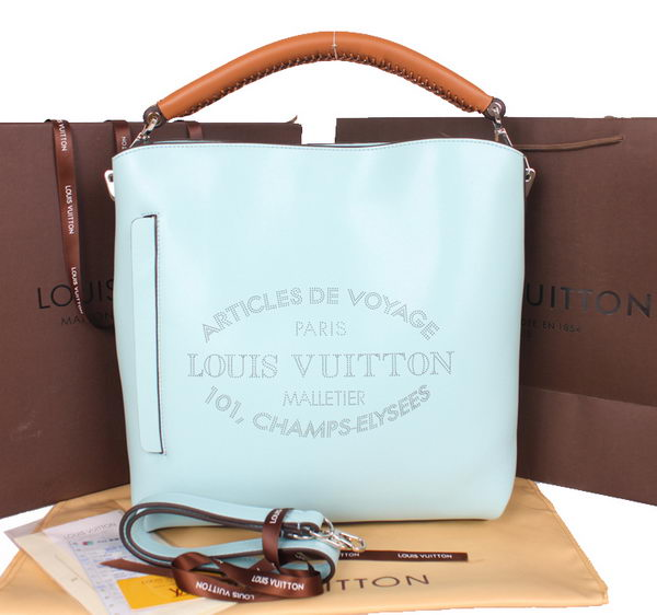 Louis Vuitton 2014 SS Veau Soie Leather Bagatelle M94351 Light Blue