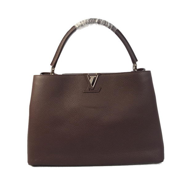 Louis Vuitton Elegant Capucines Bag GM M38861 Brown