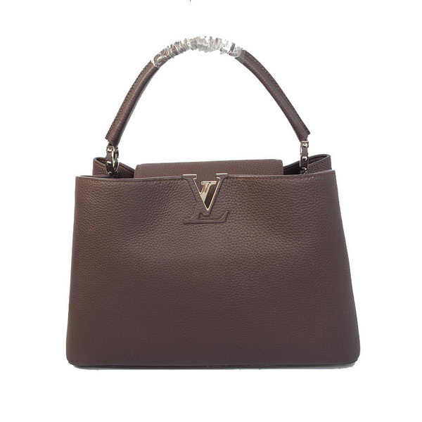 Louis Vuitton Elegant Capucines Bag MM M38862 Brown
