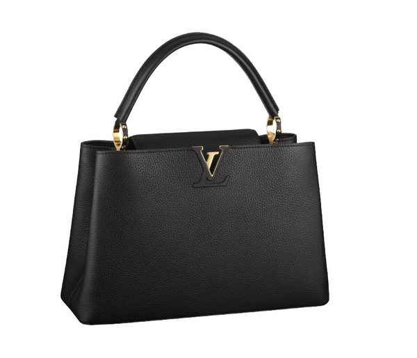 Louis Vuitton Elegant Capucines Bag MM M48864 Black