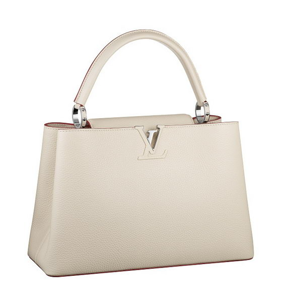 Louis Vuitton Elegant Capucines Bag MM M48865 OffWhite
