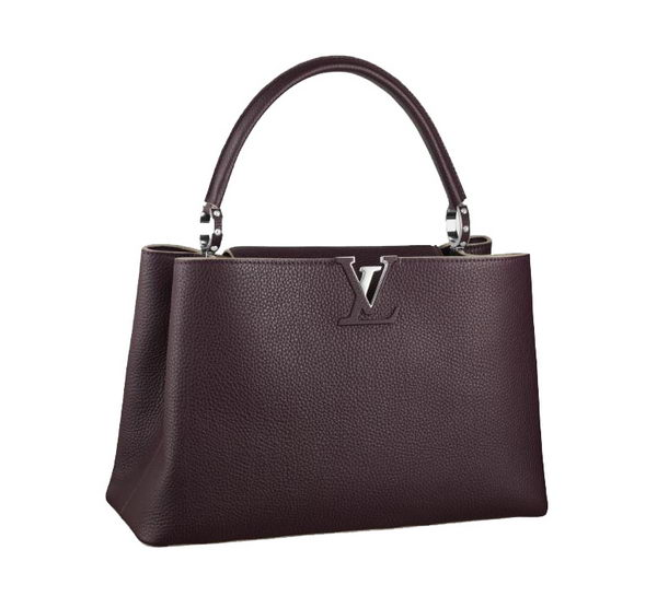 Louis Vuitton Elegant Capucines Bag MM M48869 Brown
