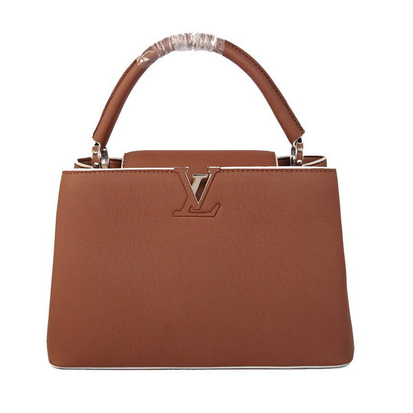 Louis Vuitton Elegant Capucines Bag MM M48871 Brown
