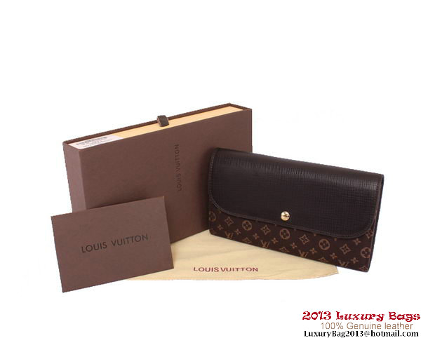 Louis Vuitton Monogram Idylle Wallet M60458 Brown