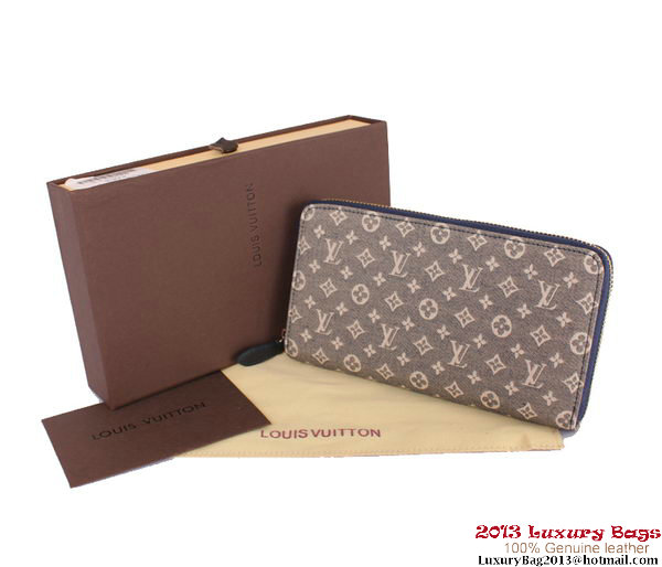 Louis Vuitton Monogram Idylle Zippy Wallet M63010 Blue