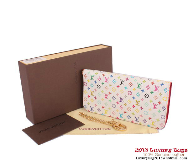 Louis Vuitton Monogram Multicolore Insolite Wallet M60270 Peach