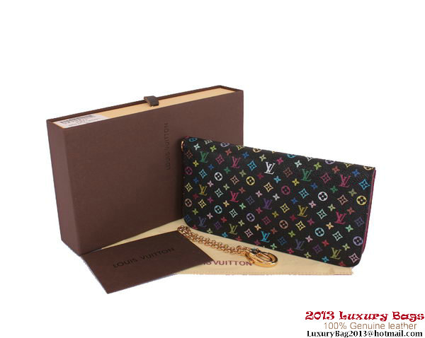 Louis Vuitton Monogram Multicolore Insolite Wallet M60270 Purple
