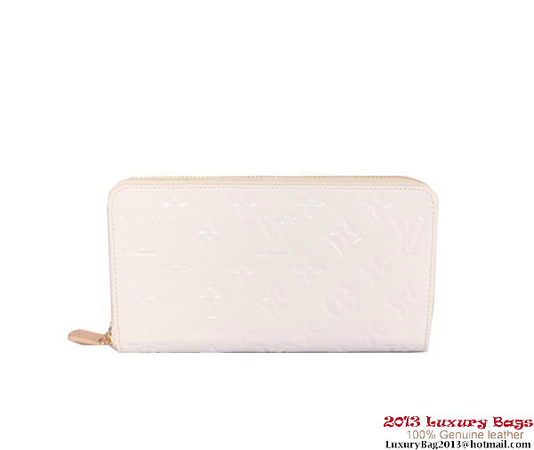 Louis Vuitton Monogram Vernis Zippy Wallet M93575 White