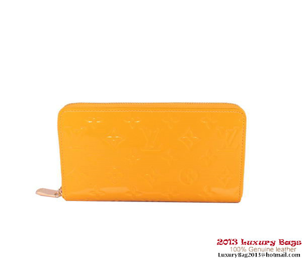 Louis Vuitton Monogram Vernis Zippy Wallet M93575 Yellow
