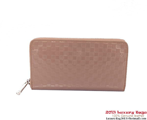 Louis Vuitton Monogram Vernis Zippy Wallet M94442 Camel