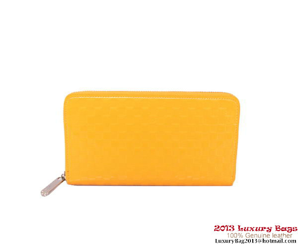 Louis Vuitton Monogram Vernis Zippy Wallet M94442 Yellow