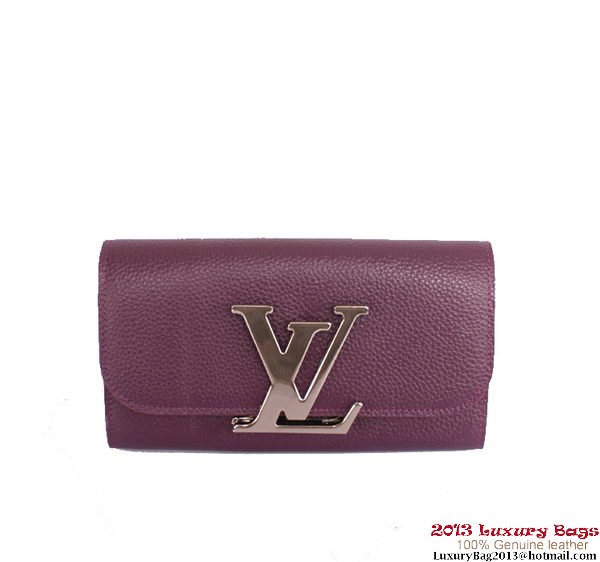 Louis Vuitton Vivienne LV Long Wallet M58176 Purple
