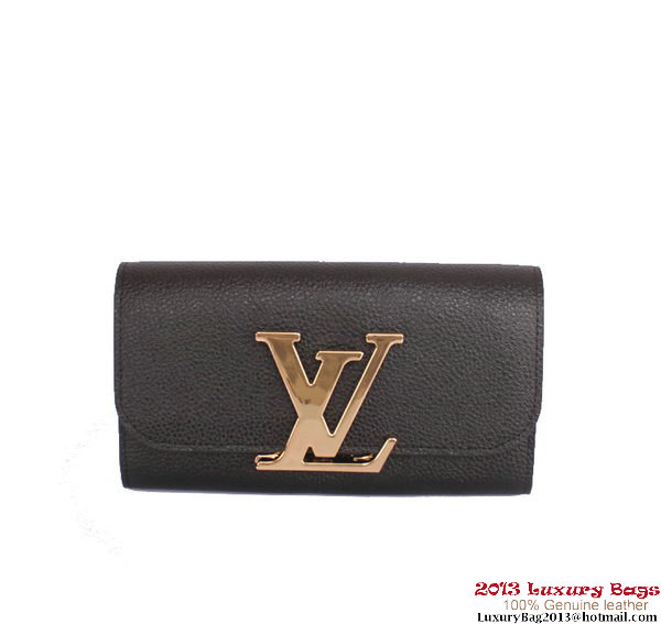 Louis Vuitton Vivienne LV Long Wallet M58177 Black