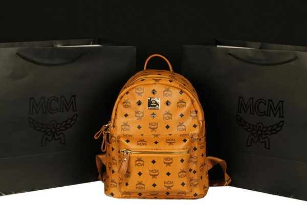 MCM Stark Backpack Large in Calf Leather 8004 Camel