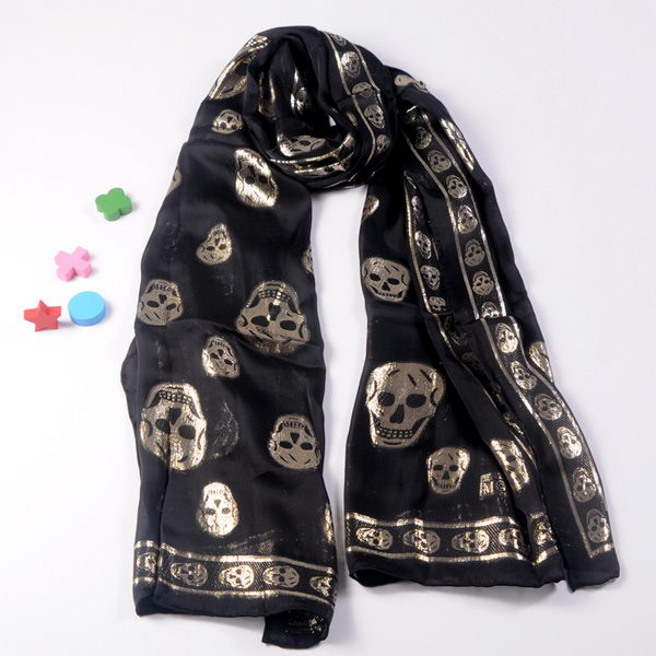 MQUEEN Scarves Silk WJMCQ02 Black