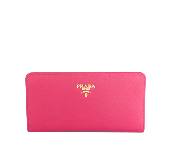 Prada Saffiano Leather Wallet 1M1246 Rose