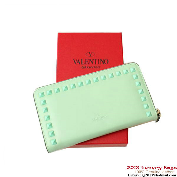 Valentino Garavani Continental Zipped Wallet EWP00079 Light Blue