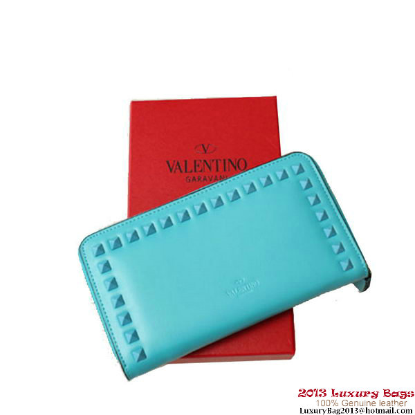 Valentino Garavani Continental Zipped Wallet EWP00079 SkyBlue