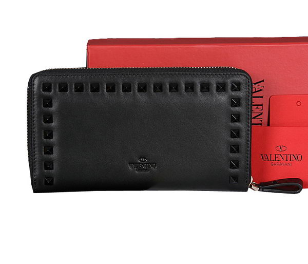 Valentino Garavani Continental Zipped Wallet VG6001Z Black