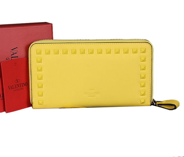 Valentino Garavani Continental Zipped Wallet VG6001Z Lemon