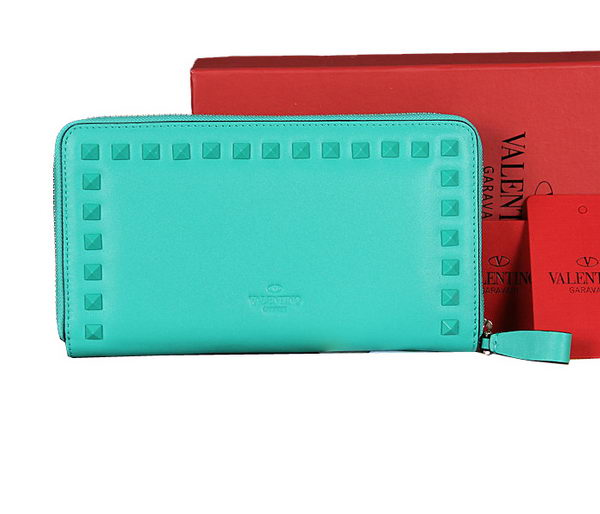 Valentino Garavani Continental Zipped Wallet VG6001Z Light Blue