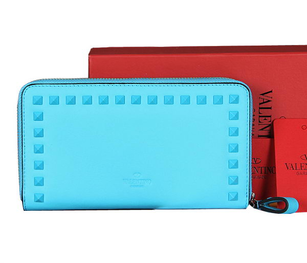 Valentino Garavani Continental Zipped Wallet VG6001Z SkyBlue