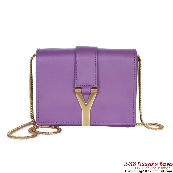 Yves Saint Laurent Chyc Small Travel Case Y4446 Purple