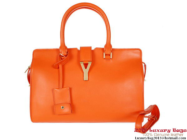 Yves Saint Laurent Medium Clafskin Cabas Chyc Bag Orange