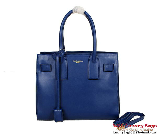 Yves Saint Laurentt Classic Small Sac De Jour Bag Y4735 RoyalBlue