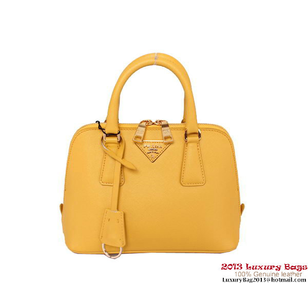 Prada Saffiano Leather Tote Bag PR0838 Yellow