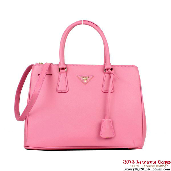 0731820d11b0 2013 Prada BN2274 Pink Saffiano Calfskin Leather Tote Bag