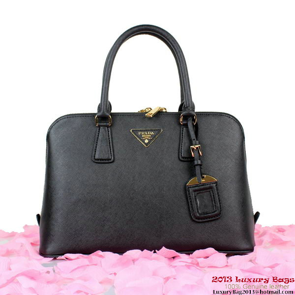 PRADA Saffiano Leather Top Handle Bag BL0837 Black