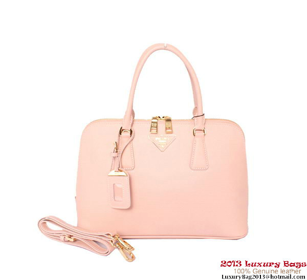 PRADA Saffiano Leather Top Handle Bag BL0837 Light Pink