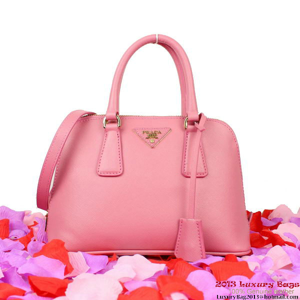 Prada BL0838 Saffiano Leather Tote Bag Pink
