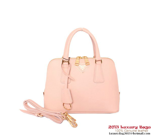 Prada Saffiano Calf Leather Tote Bag BL0838 Light Pink