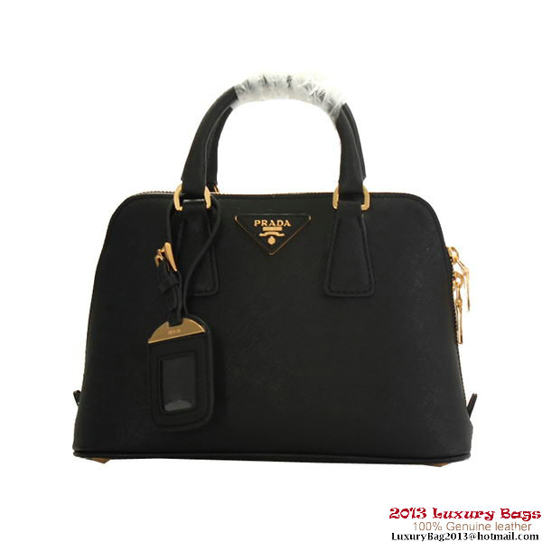 Prada Saffiano Claf Leather Tote Bag BL0838 Black