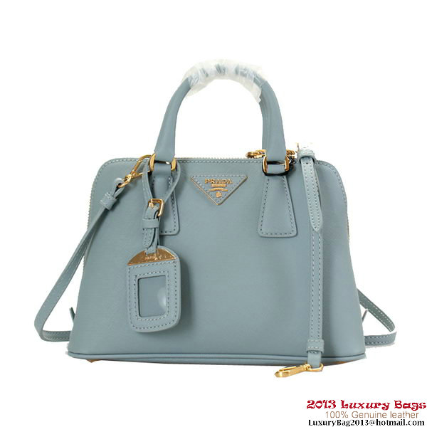 Prada Saffiano Leather Tote Bag BL0838 Light Blue