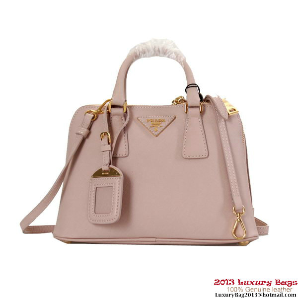 Prada Saffiano Leather Tote Bag BL0838 Light Pink