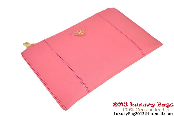 PRADA Saffiano Leather Clutch BP625 Pink