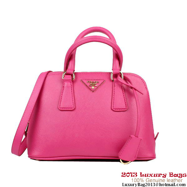 Prada Saffiano Leather 26cm Two Handle Bag BL0838 Rose