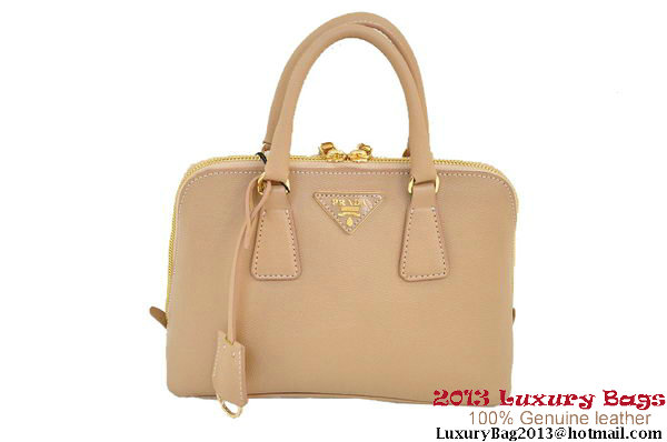 Prada Saffiano Two Handle Bag 25cm BL0838 Camel
