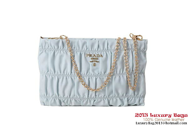 Prada Gaufre Nappa Leather Clutch BP0237 Light Blue