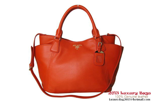 Prada Vitello Daino Tote Bag BR2435 Orange