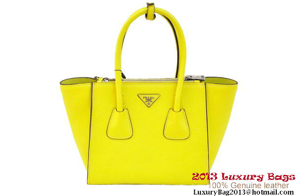 Prada Original Calf Leather Tote Bag BN2625 Lemon