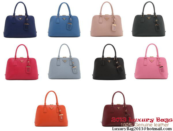 PRADA BL0837 Saffiano Calf Leather Two Handle Bag