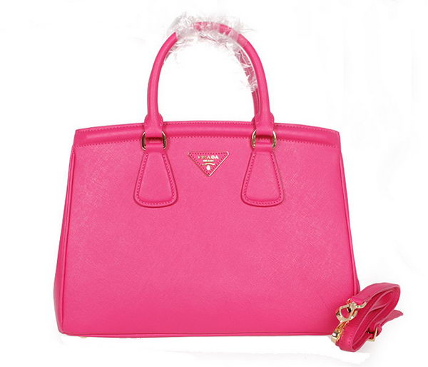 PRADA Saffiano Leather Tote Bag BN2308 Rose